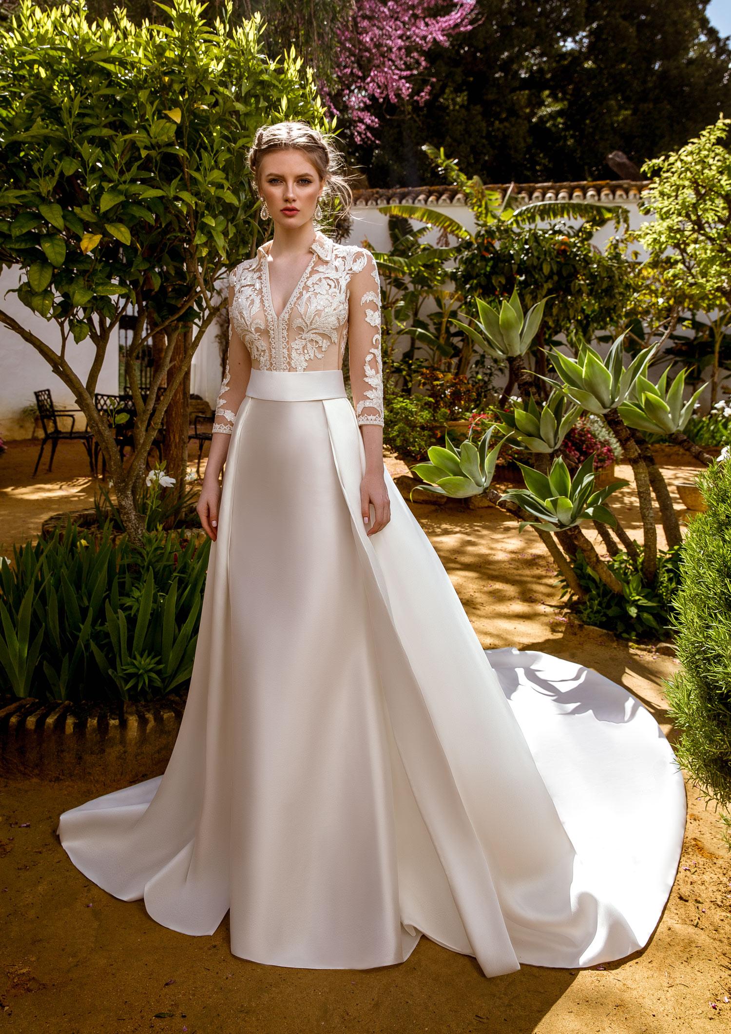 Corte de vestido de novia para chaparritas